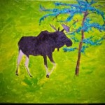 Moose Painting I