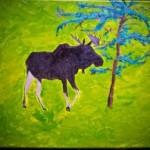 Moose Painting I