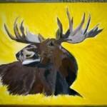 Moose Painting II