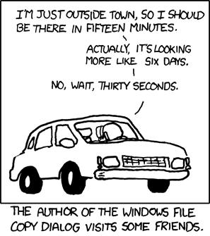 windows estimated time