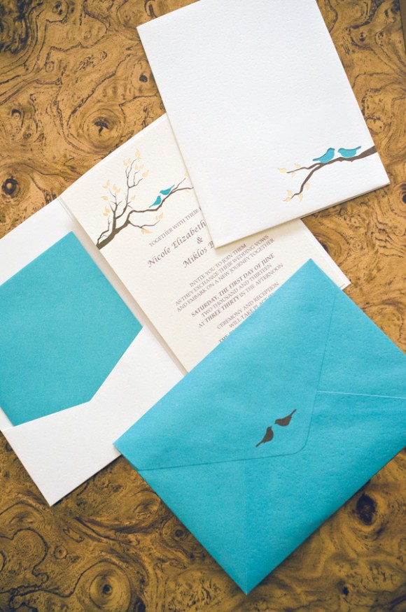 birds, wedding invitations