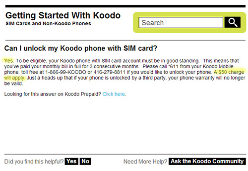 $50 to unlock a phone through the old network carrier. I don't think so.