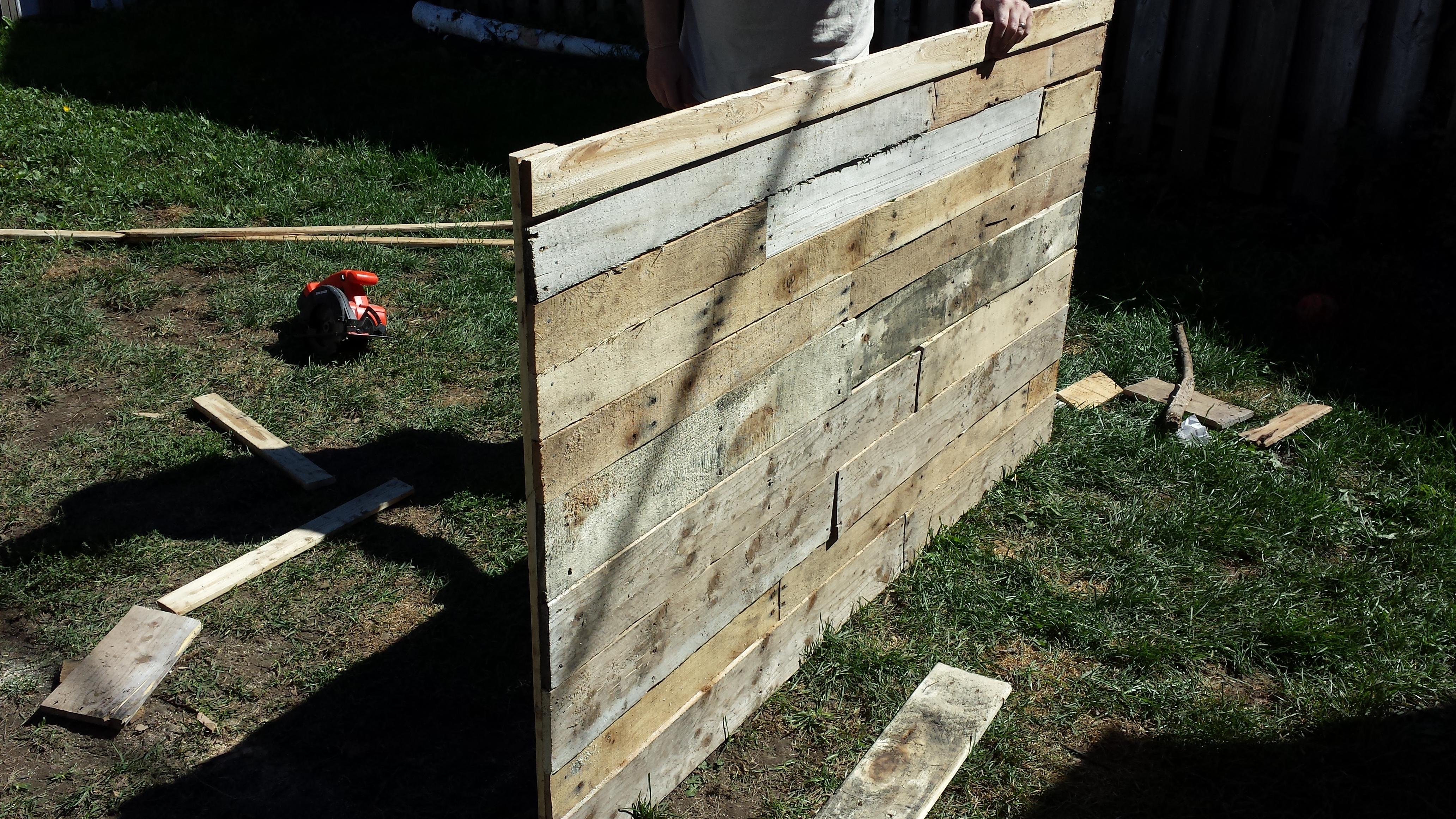 DIY headboard progress