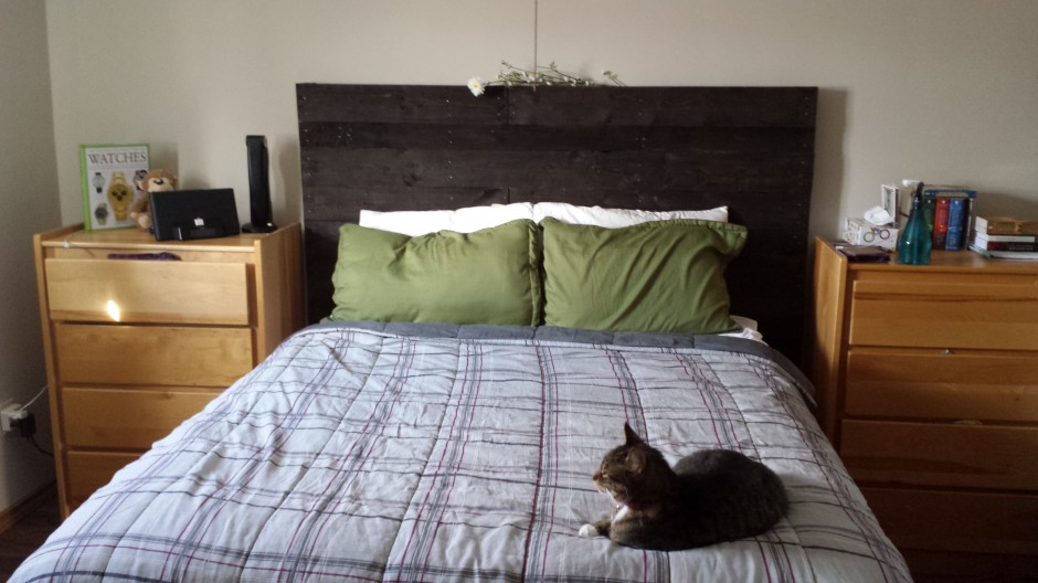 DIY pallet headboard finished!