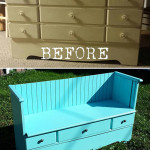 DIY: From Old Dresser to Pretty Vintage Bench