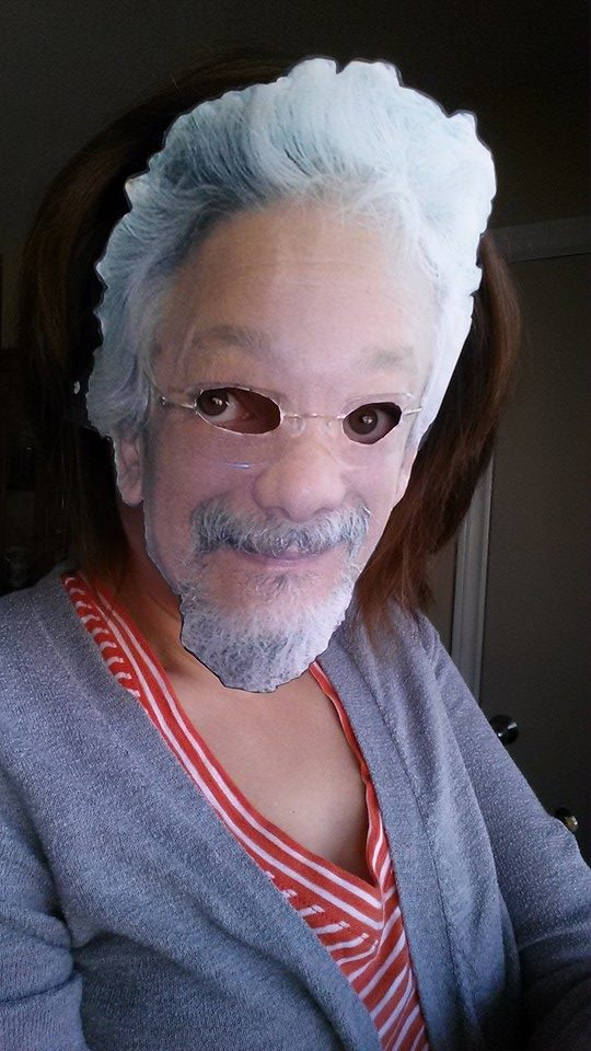 David Suzuki Mask for Halloween