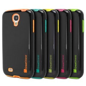 GreatShield NEON Series PC + Silicone Protective Hybrid Cover Case for Samsung Galaxy S4