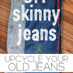DIY: Upcycle regular jeans into skinny jeans!