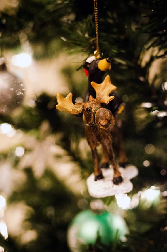 bear and moose christmas ornament
