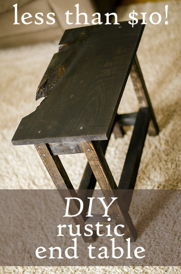 DIY end table for less than $10!