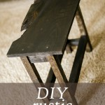 DIY rustic end table for less than $10!
