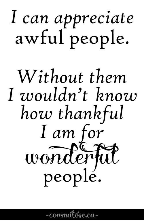 awful people vs wonderful people