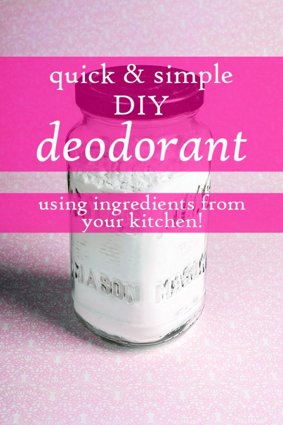 quick easy DIY deodorant from your kitchen