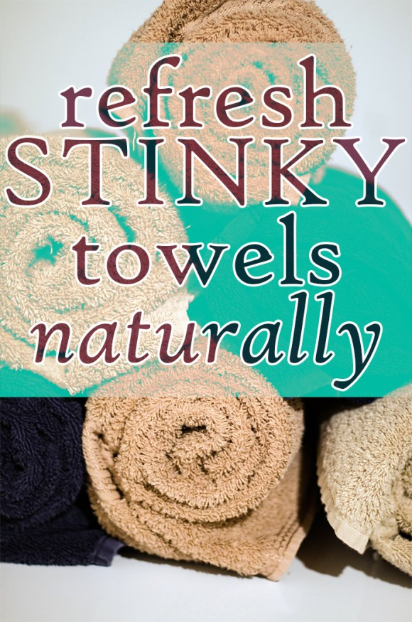 refresh stinky towels naturally