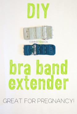 DIY bra extender - great for pregnancy!