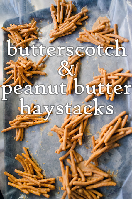 butterscotch & peanut butter haystacks recipe
