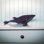 DIY denim whale — great baby room or toddler gift project!