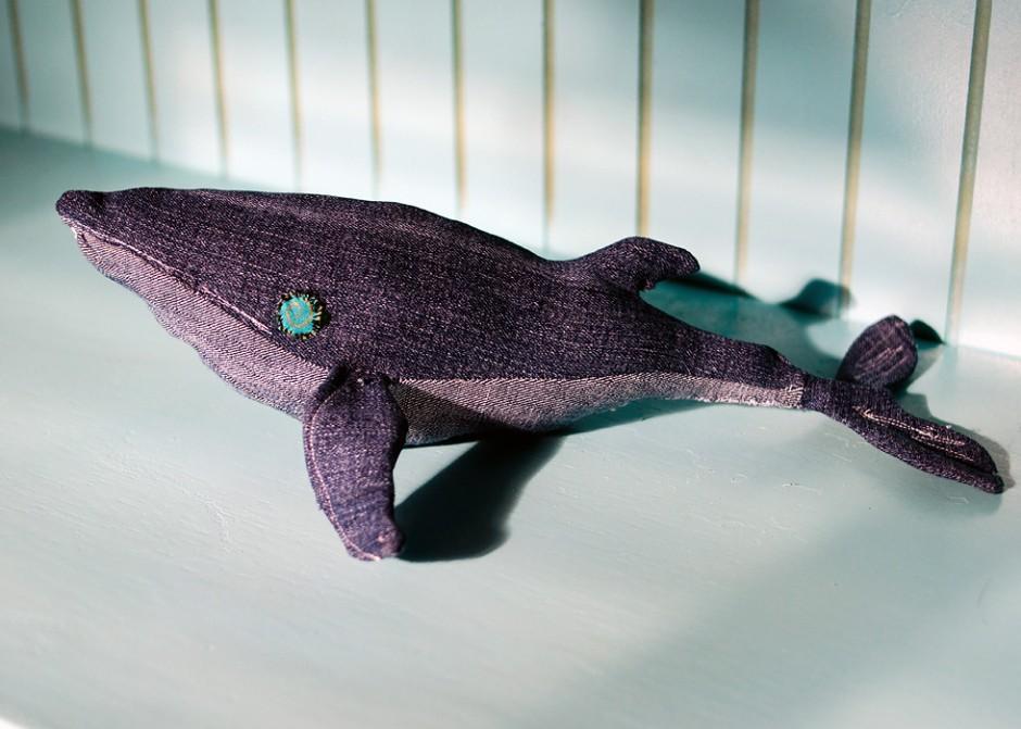 my version of denim whale DIY for little boy's room
