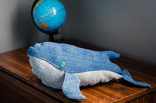 DIY denim whale 2.0 and globe