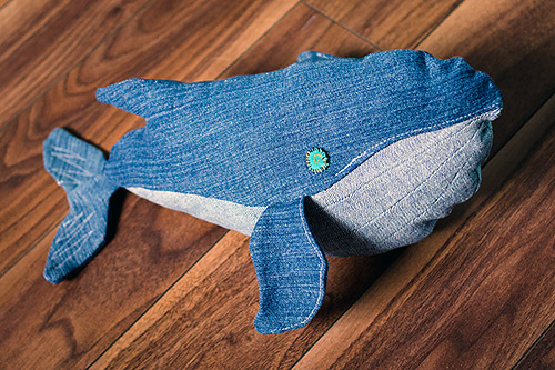 DIY denim whale other side
