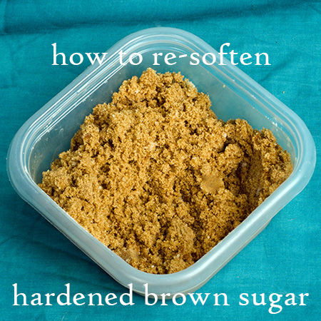 how to re-soften hardened brown sugar