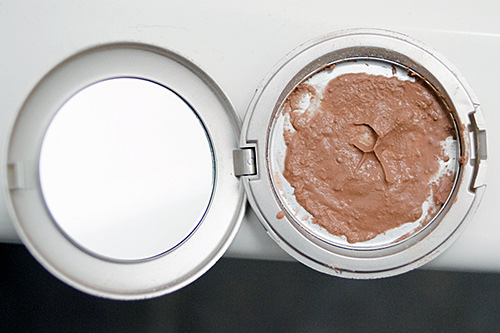 try and smooth over your makeup with a spoon
