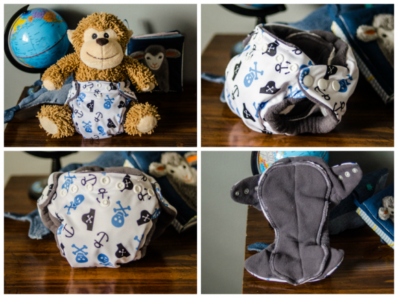 The cloth diapers I made, and never used... whoops.