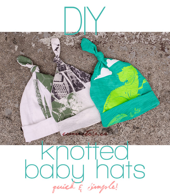 DIY knotted baby hats