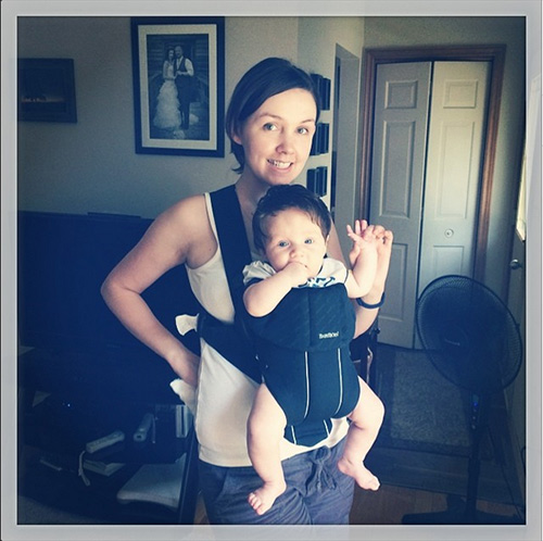 Baby in Baby Bjorn carrier