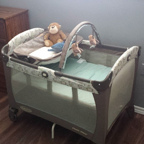 Monkey-approved Graco Pack N' Play
