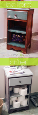 nightstand to bathroom table upcycle