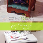 DIY: Upcycle an old nightstand to bathroom storage for free!