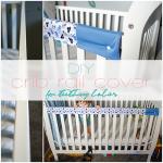 DIY crib rail cover