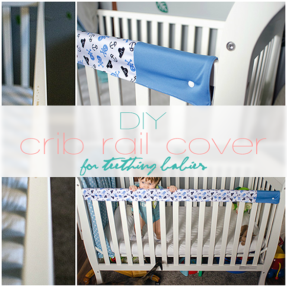 DIY crib rail cover