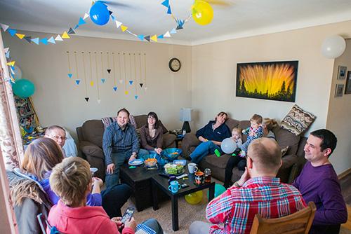 group shot at Johnny's birthday