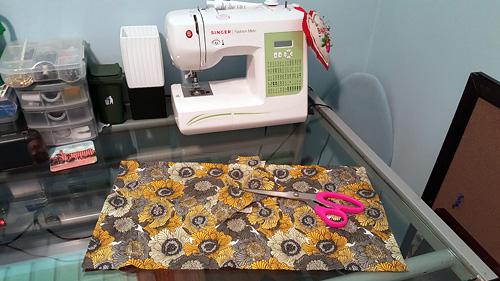 rectangular fabric
