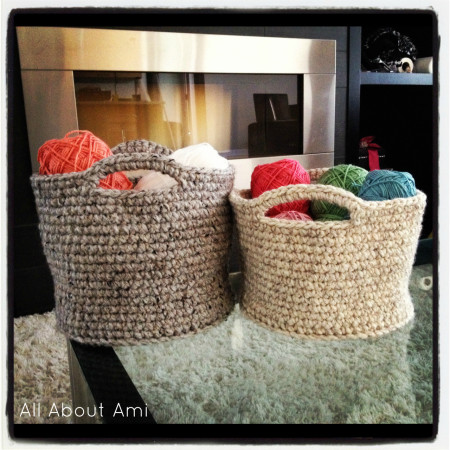 crochet baskets large from All About Ami