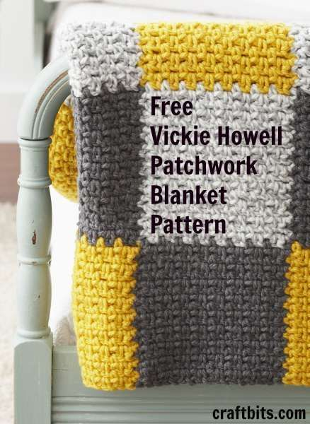Crocheted Patchwork Blanket by Vickie Howell on Craftbits