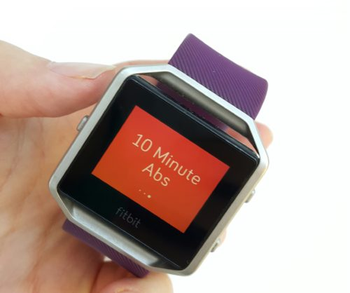 10 minute abs workout on Fitbit Blaze