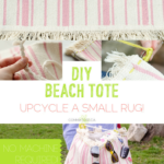 DIY: Make a rug into a cute beach tote!