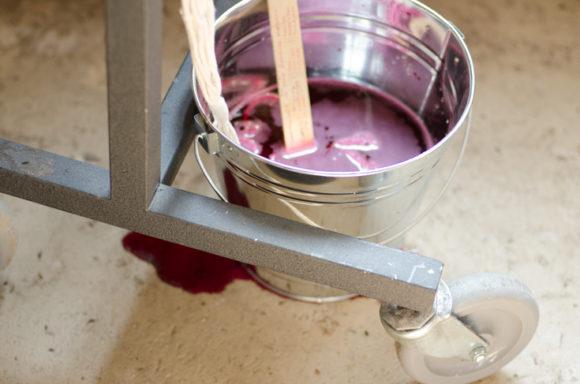Rit Dye Fuchsia - Dip dye your plant hangers