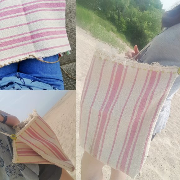 How to make a big sturdy beach bag for cheap!