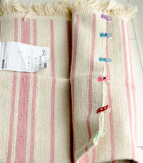 How to make a beach bag from a small IKEA rug
