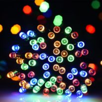 Solar powered LED Christmas lights