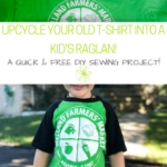 DIY: Upcycle your old t-shirt into a kid's raglan!