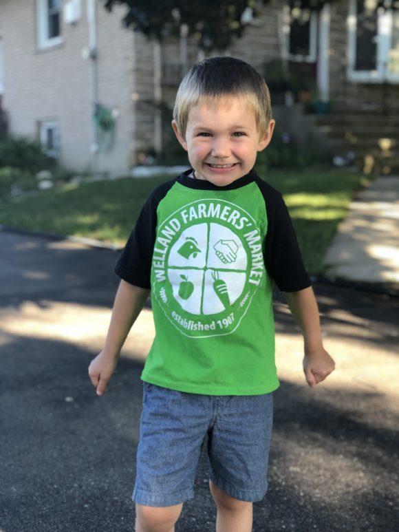 Kids upcycled raglan t-shirt